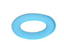 Pacific Blue Recycled Glass Oval Ring 31x19mm