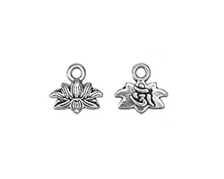 Zola Elements Antique Silver (plated) 2-Sided Lotus Ohm Charm 11x10mm