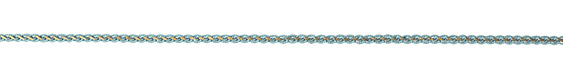 Turquoise & Brass Braided Chain