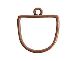 Nunn Design Antique Copper (plated) Open Half Oval Frame Pendant 28.5x31mm