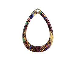 Zola Elements Abalone Acetate Open Drop Focal 22x31mm