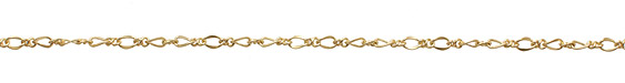 Satin Hamilton Gold (plated) Curb & Figure 8 Chain