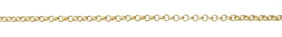 Satin Hamilton Gold (plated) Rolo Chain (bulk discount)