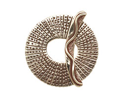 Saki White Bronze Large Peacock Toggle 37mm, 38mm bar