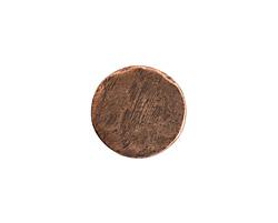 Nunn Design Antique Copper (plated) Small Organic Flat Circle 14.5mm