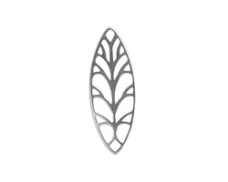 Amoracast Sterling Silver Marquise Filigree 26x10mm