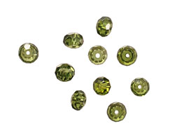 Fern Faceted Rondelle 4x6mm