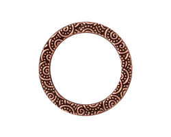 "TierraCast Antique Copper (plated) 1"" Spiral Ring 25mm"