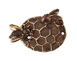 Green Girl Bronze Honeycomb Toggle Clasp 40x29mm