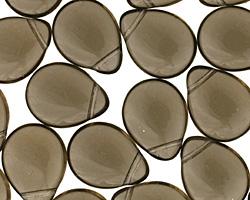 Czech Glass Black Diamond Teardrop 12x16mm