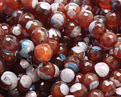 Autumn Patina Agate Faceted Round 8mm