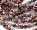 Red Lightning Agate Faceted Round 6mm