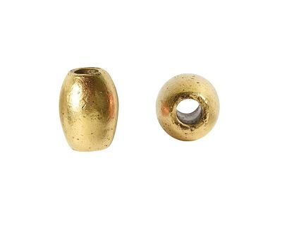 Nunn Design Antique Gold (plated) Rice 8x6mm