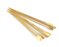 """Gold (plated) Paddle Headpin 2"""", 21 gauge"""