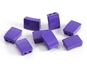 Purple Enamel 2-Hole Tile Rectangle Bead 12x8mm