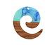 Walnut Wood & Nautical Swirl Resin Koru Focal 36x37mm