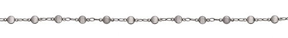 Antique Silver (plated) Vintage Disc Chain
