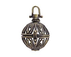 Antique Brass (plated) Starflower Diffuser Locket 29x39mm