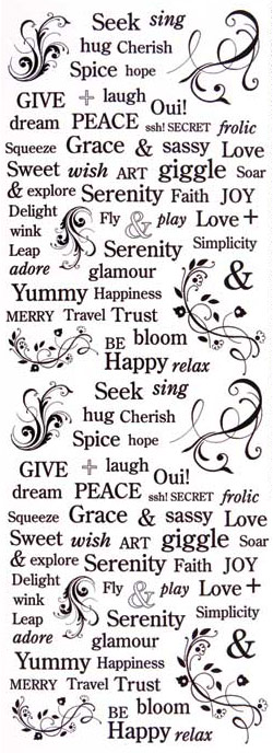 Nunn Design Decorative Words Collage Sheet