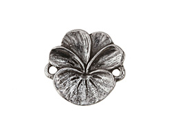 Green Girl Pewter Pansy Link 23x22mm