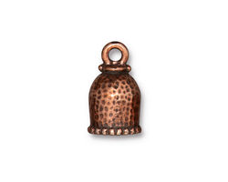 TierraCast Antique Copper (plated) Palace 8mm Cord End 18x11mm