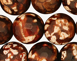 Leopard Fire Agate Faceted Round 16mm