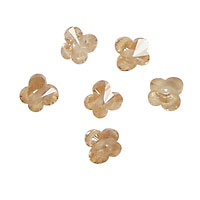 Champagne Faceted Butterfly 6x6mm