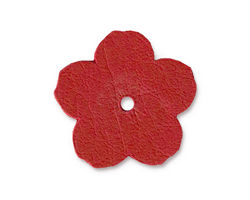 "TierraCast Red Leather 1"" Flower 25mm"