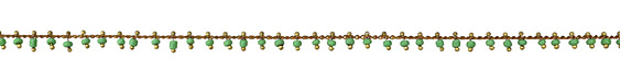 Zola Elements Apple Green Seed Bead Drops Brass Chain