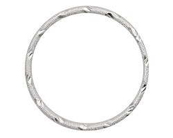 Silver (plated) Embellished Ring 34mm