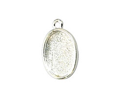 Nunn Design Sterling Silver (plated) Mini Oval Frame Charm 19x12mm
