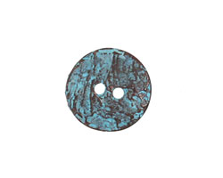 Greek Copper (plated) Patina Etched Button 17mm