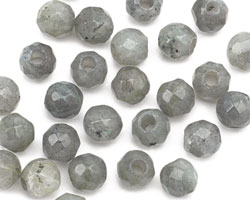 Labradorite Faceted Round (Large Hole) 8mm