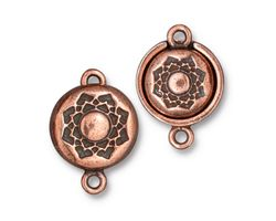 TierraCast Antique Copper (plated) Lotus Magnetic Clasp 14x20mm