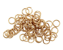 Artistic Wire Non-Tarnish Brass Chain Maille Jump Ring 5.56mm, 18 gauge