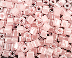 TOHO Ceylon Innocent Pink Cube 4mm Seed Bead