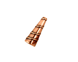 Antique Copper (plated) Small Spiral Cone 17x6mm