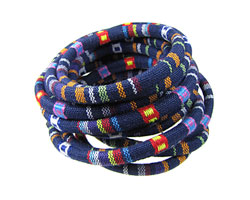 Blue Woven Round Cotton Cord 6mm
