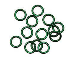 Green Anodized Aluminum Jump Ring 7mm, 18 gauge (5mm inside diameter)