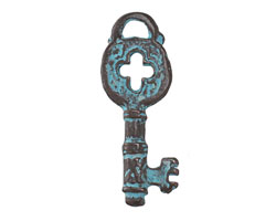 Greek Copper (plated) Patina Key Charm 12x32mm