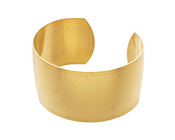 Brass Smooth Round Cuff 62x32mm