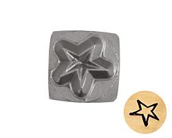 Whimsical Star Metal Stamp 5mm
