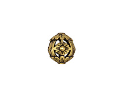 Zola Elements Antique Gold (plated) Floral Filigree Round 12mm