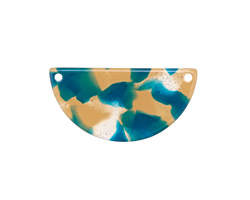 Zola Elements Tide Pool Acetate Half Circle Link 30x15mm