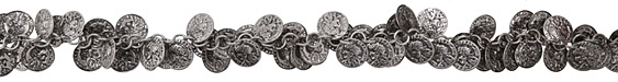 Antique Silver (plated) Coin Chain