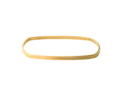 Nunn Design Antique Gold (plated) Flat Square Bangle Bracelet 63.5mm