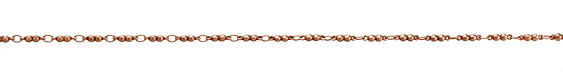 Antique Copper (plated) Double Ball Link Chain