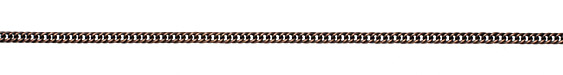 Antique Copper (plated) Woven Curb Chain