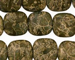 African Green Jasper Puff Square 16mm