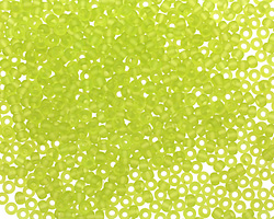 TOHO Transparent Frosted Lime Green Round 11/0 Seed Bead